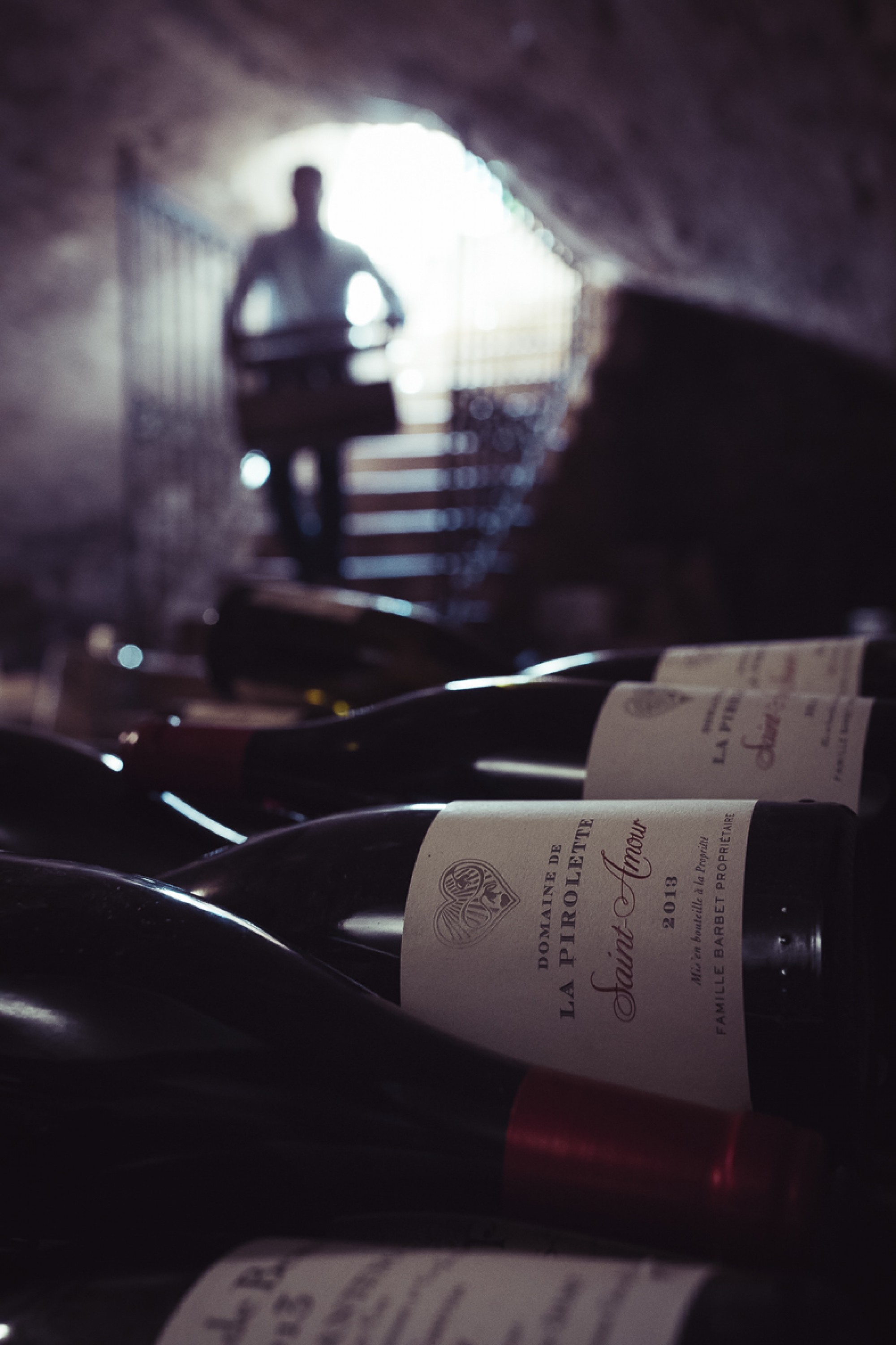 The cellar at the domaine