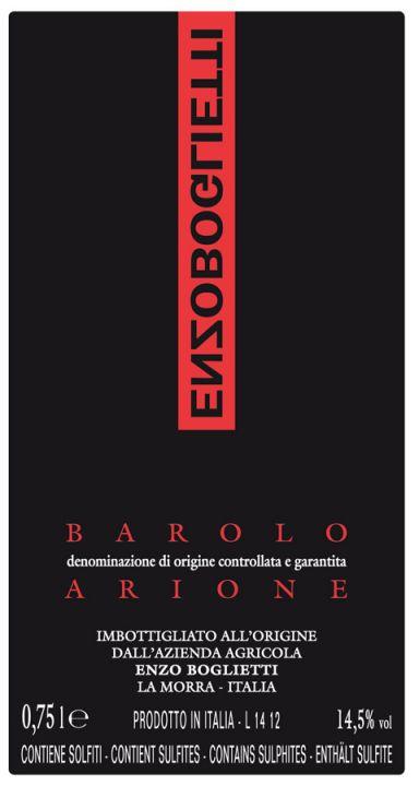 Boglietti Barolo Arione label