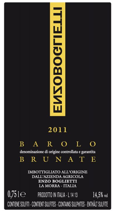 Boglietti Barolo Brunate label