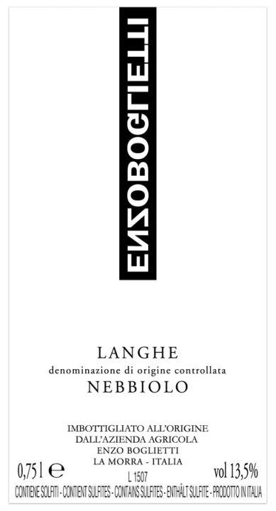 Langhe Nebbiolo label