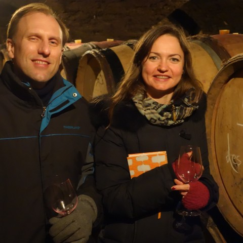 Kevin Shaffer and Michele Peters at Domaine Chandon de Brialles