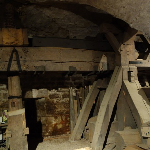Ancient press at Clos de la Perrière