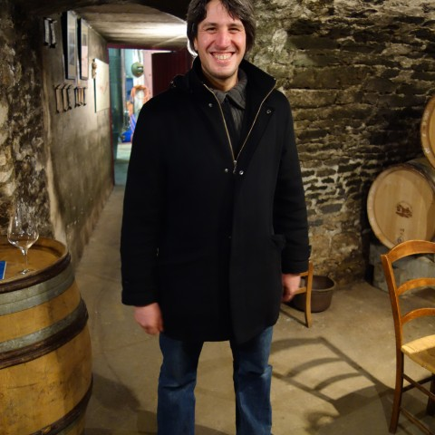 Pablo Chevrot at his domaine in Maranges